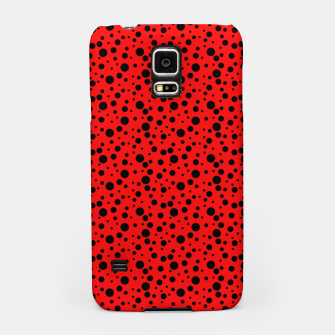 Miniatur Ladybug style - scarlet red background and black polka dots Samsung Case, Live Heroes