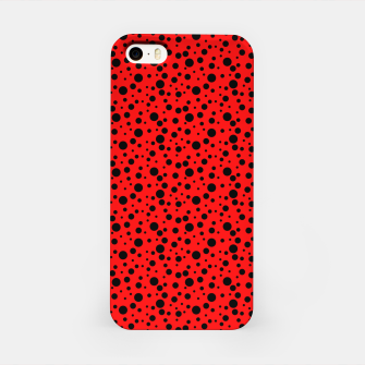 Miniatur Ladybug style - scarlet red background and black polka dots iPhone Case, Live Heroes
