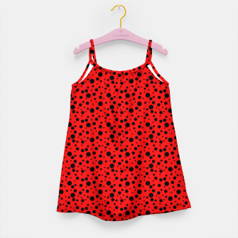 Miniatur Ladybug style - scarlet red background and black polka dots Girl's dress, Live Heroes
