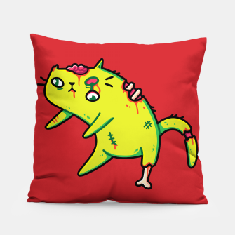 Miniature de image de Creepy Cute Walking Zombie Cat, Halloween, Kawaii Pillow, Live Heroes