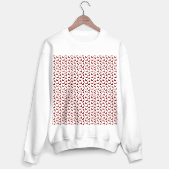 Dark Christmas Candy Apple Red Leaping Reindeer on White  Sweater regular imagen en miniatura