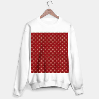 White Polka Dots On Dark Christmas Candy Apple Red Sweater regular imagen en miniatura