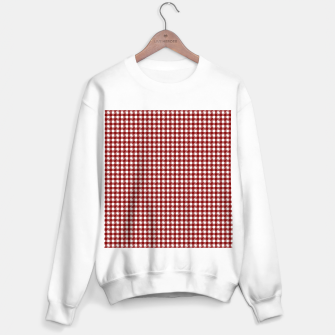 Imagen en miniatura de Dark Christmas Candy Apple Red Gingham Plaid Check Sweater regular, Live Heroes
