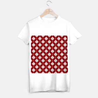 Miniatur Large Dark Christmas Candy Apple Red with White Ball Ornaments T-shirt regular, Live Heroes