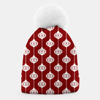 Miniatur Large Dark Christmas Candy Apple Red with White Ball Ornaments Beanie, Live Heroes