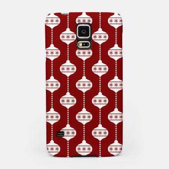 Miniatur Large Dark Christmas Candy Apple Red with White Ball Ornaments Samsung Case, Live Heroes