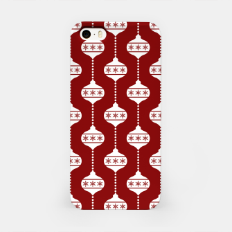 Miniatur Large Dark Christmas Candy Apple Red with White Ball Ornaments iPhone Case, Live Heroes