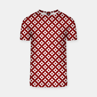 Miniaturka Dark Christmas Candy Apple Red and White Cross-Hatch Astroid Grid Pattern T-shirt, Live Heroes