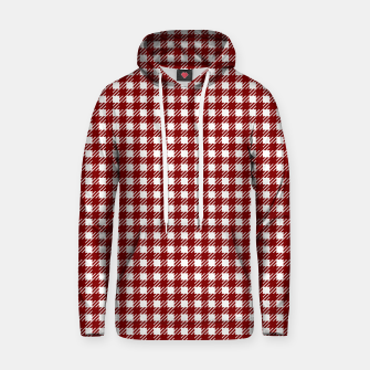 Imagen en miniatura de Dark Christmas Candy Apple Red Gingham Plaid Check Hoodie, Live Heroes