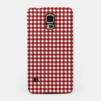 Imagen en miniatura de Dark Christmas Candy Apple Red Gingham Plaid Check Samsung Case, Live Heroes