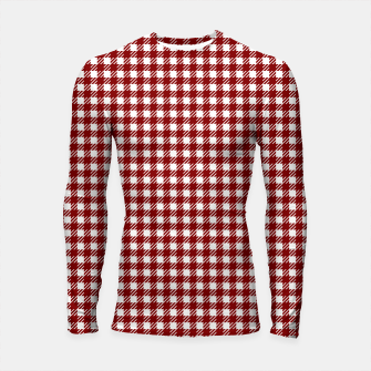 Imagen en miniatura de Dark Christmas Candy Apple Red Gingham Plaid Check Longsleeve rashguard , Live Heroes