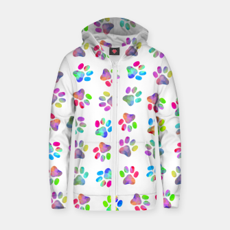 Thumbnail image of Puppy Paw Print Zip up hoodie, Live Heroes