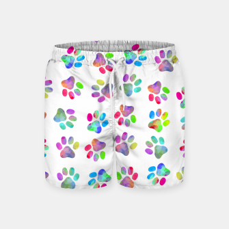 Thumbnail image of Puppy Paw Print Swim Shorts, Live Heroes