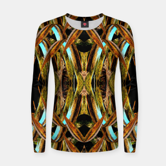 Abstraction in autumn colors Women sweater thumbnail image