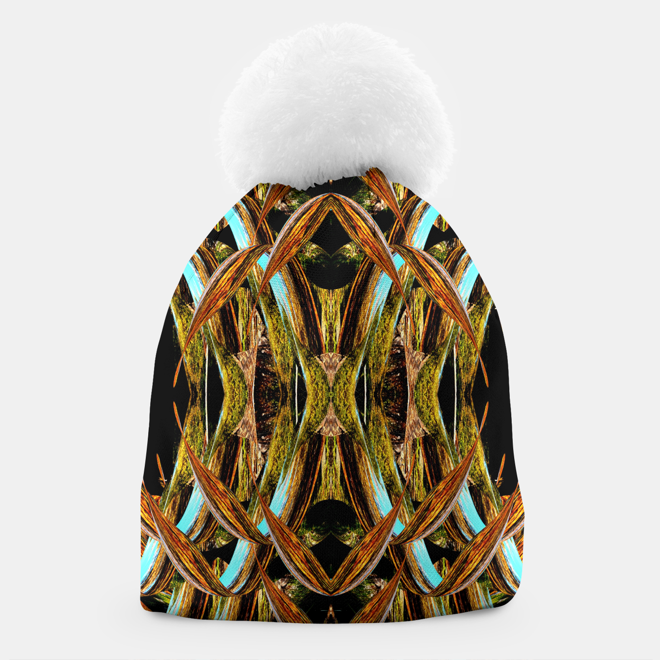 Image of Abstraction in autumn colors Beanie - Live Heroes