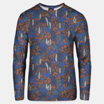Thumbnail image of Cobalt tropical lush soft Unisex sweater, Live Heroes