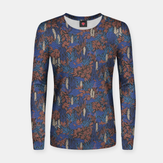 Thumbnail image of Cobalt tropical lush soft Women sweater, Live Heroes