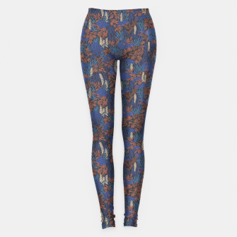 Thumbnail image of Cobalt tropical lush soft Leggings, Live Heroes