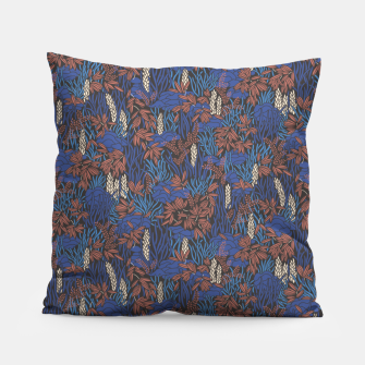 Thumbnail image of Cobalt tropical lush soft Pillow, Live Heroes
