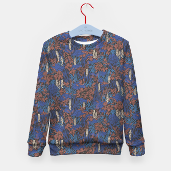 Thumbnail image of Cobalt tropical lush soft Kid's sweater, Live Heroes