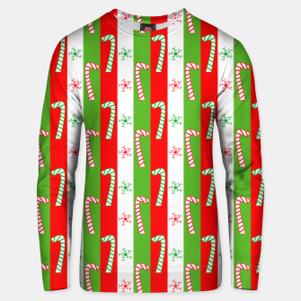 Thumbnail image of Christmas Candy Cane Stripes Unisex sweater, Live Heroes