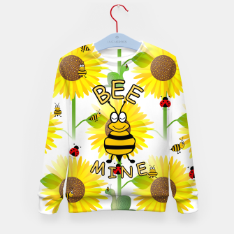 Miniatur Bee Mine Sunflowers Kid's sweater, Live Heroes