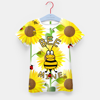 Miniatur Bee Mine Sunflowers Kid's t-shirt, Live Heroes