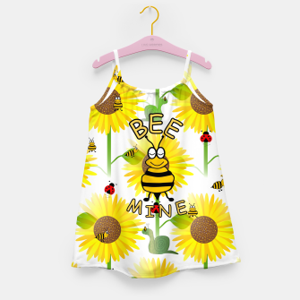 Miniatur Bee Mine Sunflowers Girl's dress, Live Heroes