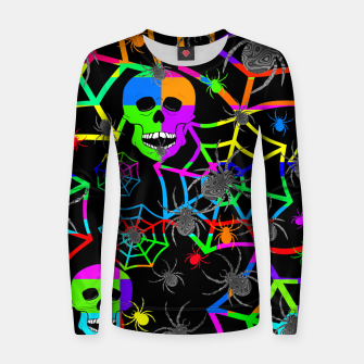 Thumbnail image of Skull Color Blast Women sweater, Live Heroes