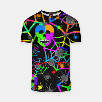 Thumbnail image of Skull Color Blast T-shirt, Live Heroes