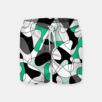 Thumbnail image of Abstract pattern - green and gray. Swim Shorts, Live Heroes