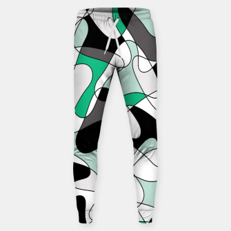Thumbnail image of Abstract pattern - green and gray. Sweatpants, Live Heroes