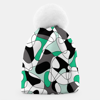Thumbnail image of Abstract pattern - green and gray. Beanie, Live Heroes