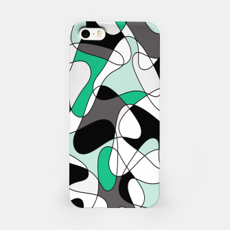 Thumbnail image of Abstract pattern - green and gray. iPhone Case, Live Heroes