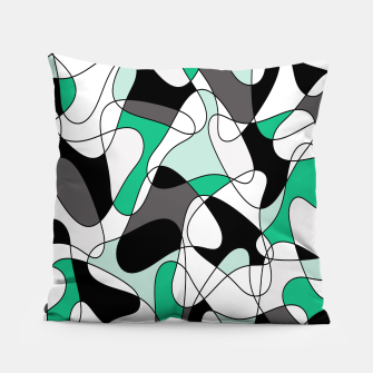 Thumbnail image of Abstract pattern - green and gray. Pillow, Live Heroes