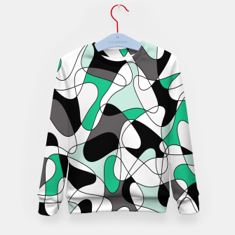 Thumbnail image of Abstract pattern - green and gray. Kid's sweater, Live Heroes