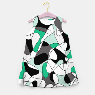 Thumbnail image of Abstract pattern - green and gray. Girl's summer dress, Live Heroes