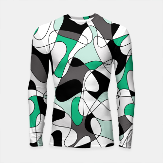 Thumbnail image of Abstract pattern - green and gray. Longsleeve rashguard , Live Heroes