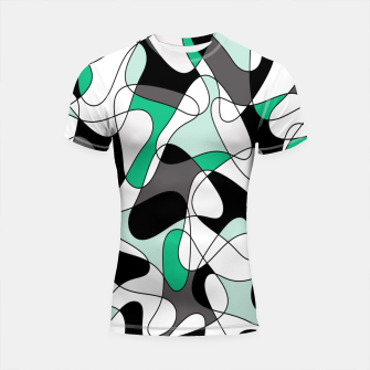Thumbnail image of Abstract pattern - green and gray. Shortsleeve rashguard, Live Heroes