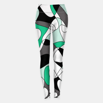 Thumbnail image of Abstract pattern - green and gray. Leggings, Live Heroes