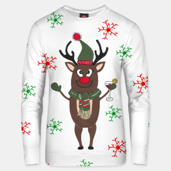 Thumbnail image of Christmas Cocktails Reindeer Unisex sweater, Live Heroes