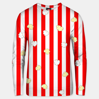 Thumbnail image of Popcorn Red Stripes Unisex sweater, Live Heroes