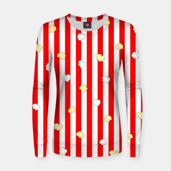 Thumbnail image of Popcorn Red Stripes Women sweater, Live Heroes