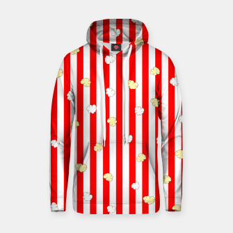 Thumbnail image of Popcorn Red Stripes Hoodie, Live Heroes