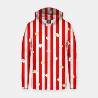 Thumbnail image of Popcorn Red Stripes Zip up hoodie, Live Heroes