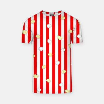Thumbnail image of Popcorn Red Stripes T-shirt, Live Heroes