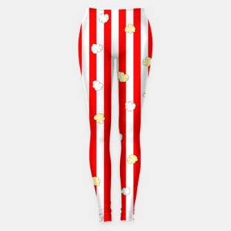 Thumbnail image of Popcorn Red Stripes Leggings, Live Heroes