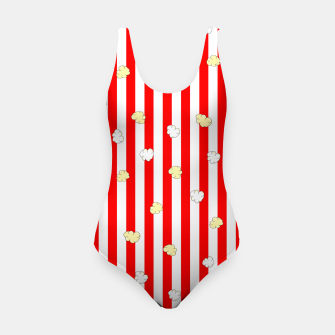 Thumbnail image of Popcorn Red Stripes Swimsuit, Live Heroes