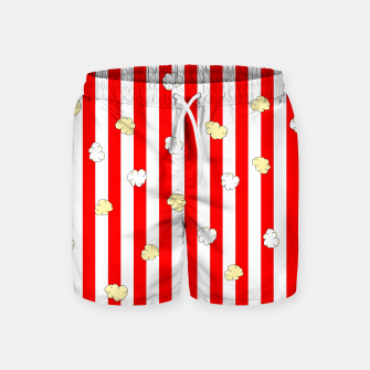 Thumbnail image of Popcorn Red Stripes Swim Shorts, Live Heroes