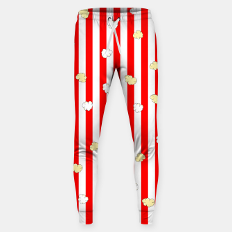 Thumbnail image of Popcorn Red Stripes Sweatpants, Live Heroes